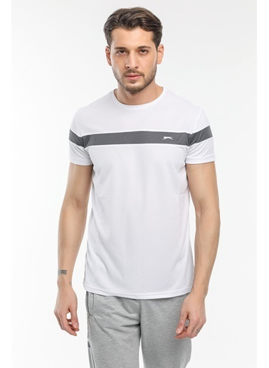 Slazenger Slazenger RAST Erkek T-Shirt  Beyaz